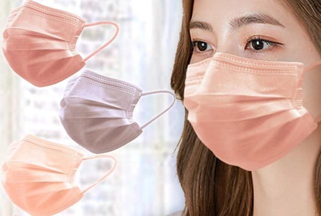 不織布マスクで小さめ血色カラー人気通販ランキング!【おしゃれで送料無料 平ゴムで耳が痛くならない